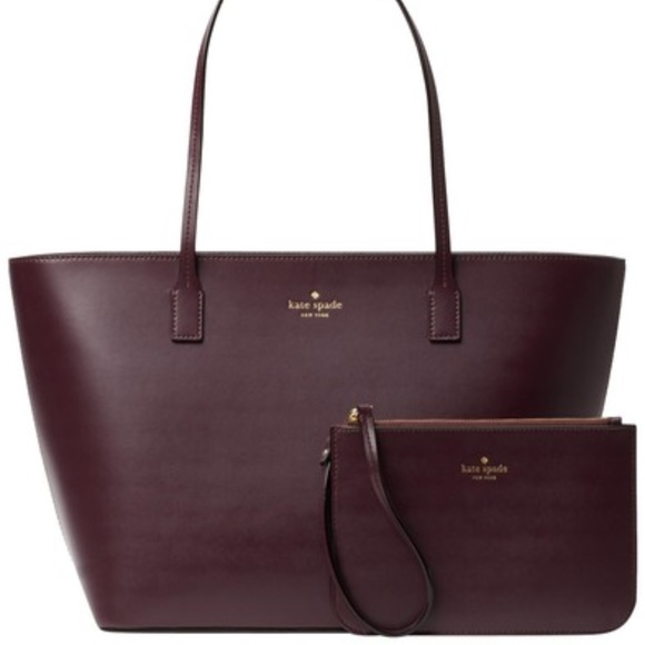 NWT Authentic KATE SPADE NEW YORK small harmony bennet place LEATHER tote POUCH